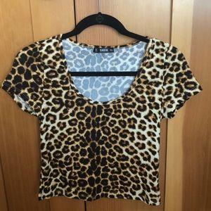 Cheetah print shirt